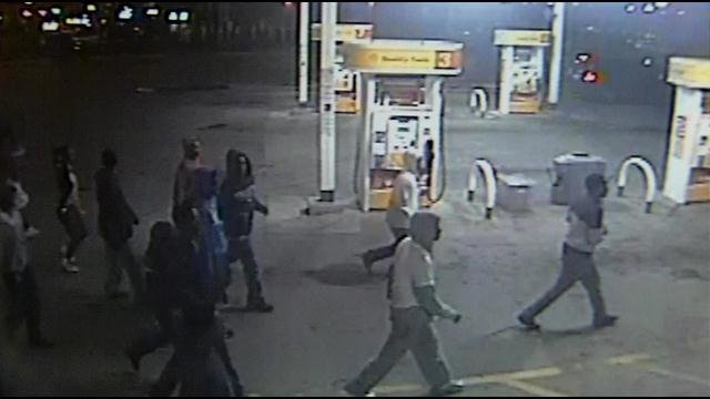 A group of juveniles raided Bader's Market on South 1st Street on March 22, 2014.