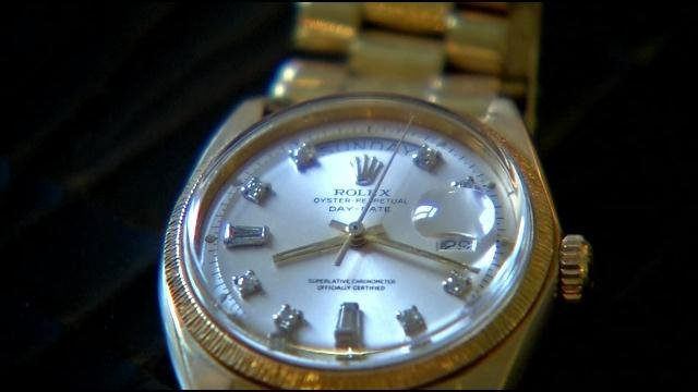 A Rolex watch is also part of Swope's estate sale.