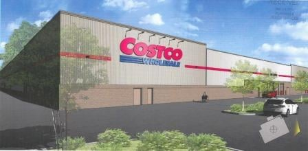 Rendering of Bardstown Road Costco store