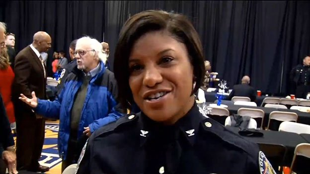 Yvette Gentry, during her retirement party from LMPD.