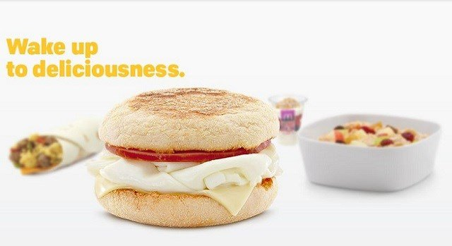 Screenshot of breakfast food from McDonalds.com.