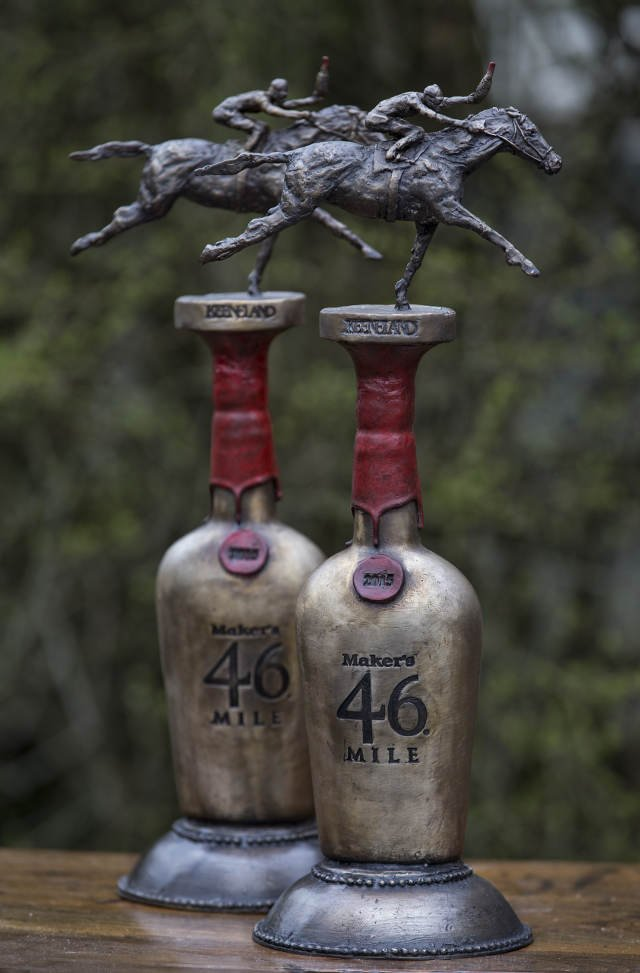 The artist created two trophies, one will be presented to the winner and another will be displayed at Keeneland (Courtesy: Rowland Jones/Thom Shelby).
