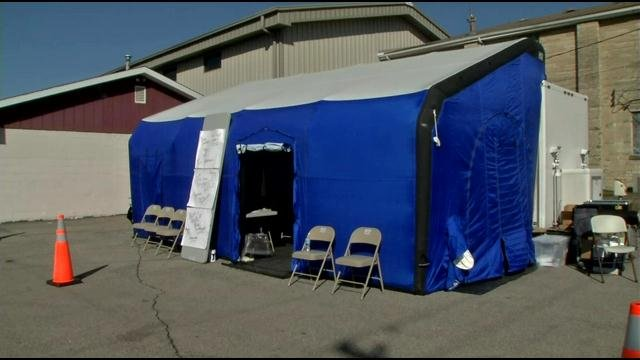 A mobile unit to deal with HIV cases has been set up near Foundations Family Medicine on west Main Street in Austin.