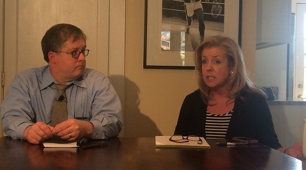 Will Walsh and Dina Bartlett, attorneys for the accusers in the Chris Jones case.