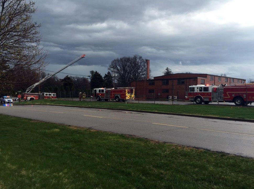 Firefighters were called to the scene of a building fire on Century Division Way in Louisville Thursday morning.