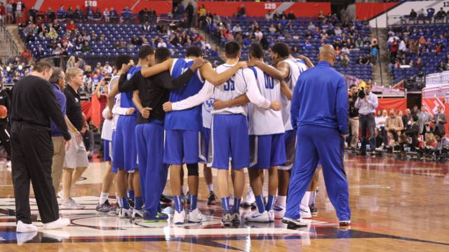 Kentucky finished its final Final Four public practice at Lucas Oil Stadium Friday.