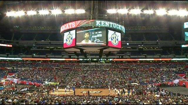 Many fans packed into Lucas Oil Stadium Friday afternoon told WDRB they didn't have tickets to the game, but just wanted to be there to support the Cats.