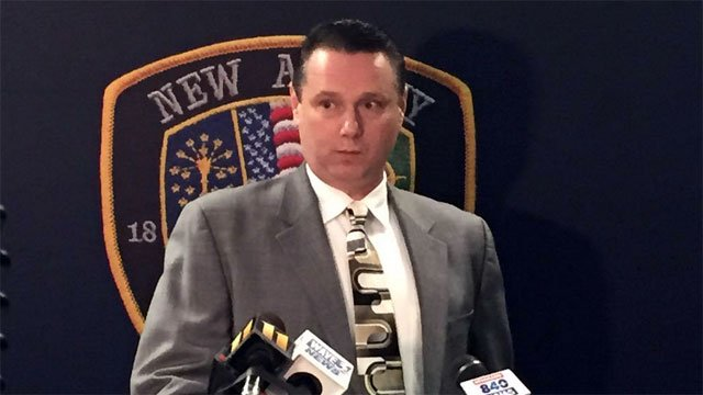 New Alban Police Chief Todd Bailey says authorities do not believe there is any threat at New Albany High School.