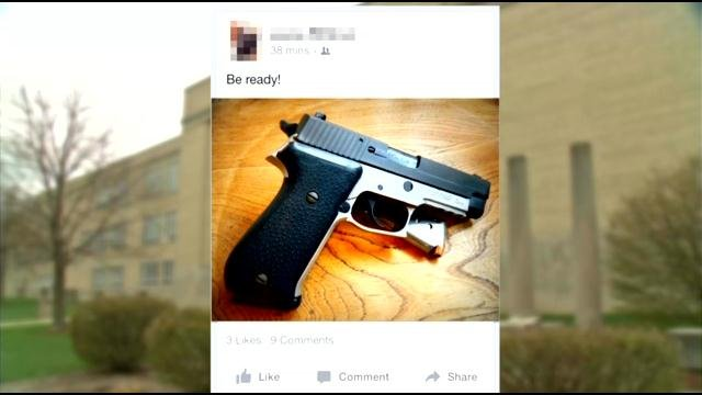 New Albany Police became concerned about social media posts referencing a potential shooting that would take place at the school on Monday.