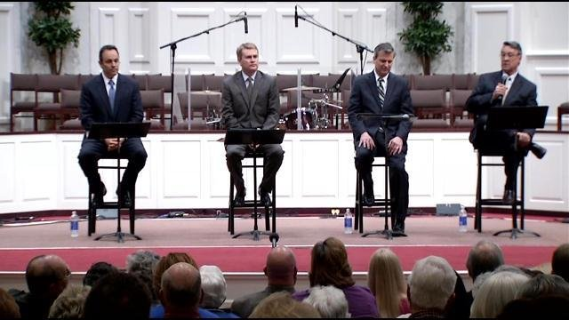 Four men running to lead the state of Kentucky faced voters Tuesday night for a candidate debate in LaGrange.