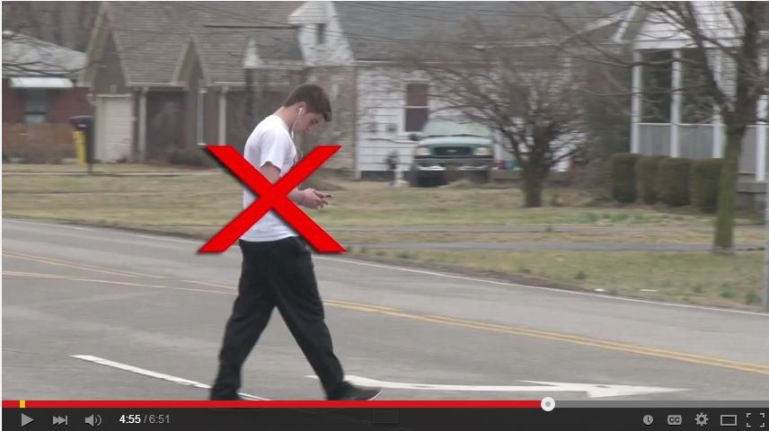 Louisville Metro Police are trying to educate pedestrians on what you shouldn't do while crossing Louisville streets.