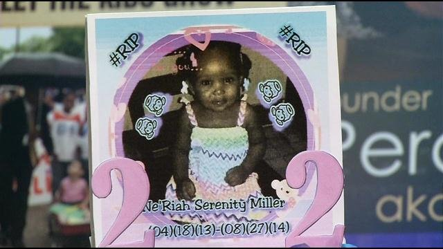 Gifts donated to daycares were accompanied by a photo of Ne'Riah Miller -- the 16-month-old shooting victim.
