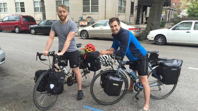 It's about 4,000 miles from one U.S. coast to the other and Louisville residents Josh Kays and Daniel Hatton plan to conquer every single one by bike.