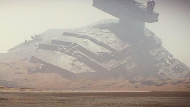 A still the trailer for Star Wars: Episode VII