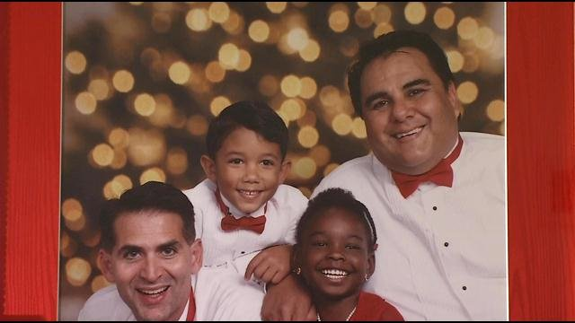 Michael De Leon (right) and his family.