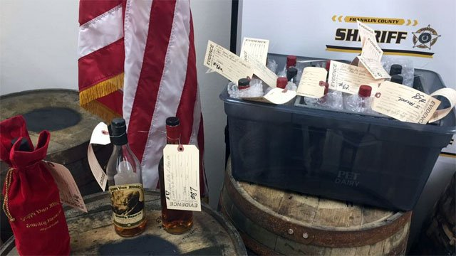 Pappy Van Winkle representatives came to test the recovered bourbon, officials say.