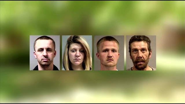 These four suspects were arrested on drug charges on Mount Holyoke Drive on April 21.