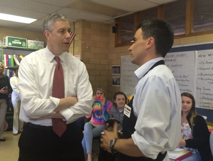 U.S. Secretary of Education Arne Duncan visited Fern Creek High School on Thursday (Photo by Toni Konz, WDRB News)