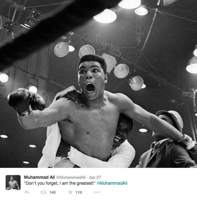 Muhammad Ali Tweet