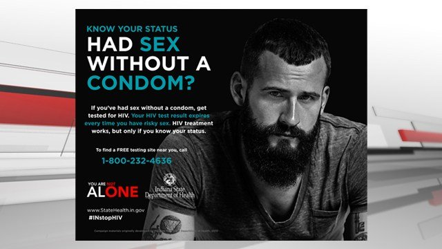 Indiana State Dept. of Health HIV awareness advertisements released Friday