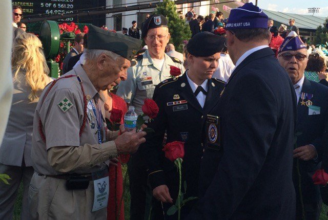 Veterans after the Kentucky Derby. WDRB photo by Eric Crawford.