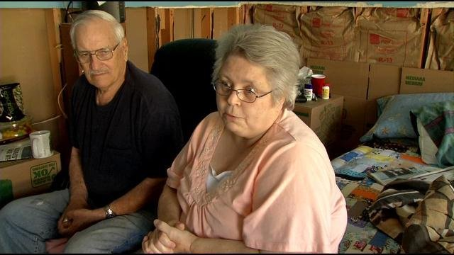 Ed and Dorothy Beavers have lived in their home on West Indian Trail for 30 years, and they've been flooded seven times.