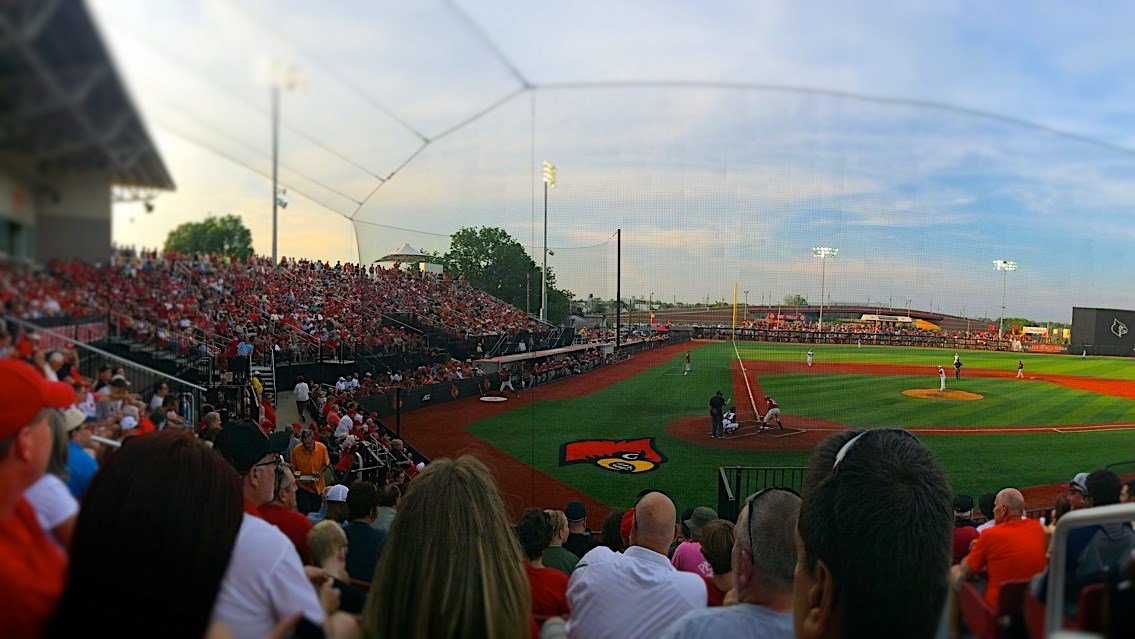 A record crowd of 6,138 didn't get to see the University of Louisville baseball team at its best. (Eric Crawford photo).