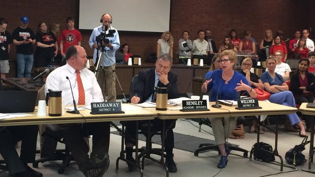 "At a JCPS board meeting on Monday May, 11, 2015, School board chairman David Jones Jr. told Hargens that the proposal was ""not acceptable as a work product."""