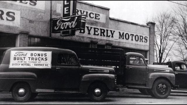 When Byerly Ford opened it's doors you could buy a new pickup truck for $600.