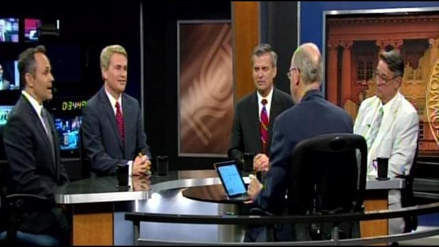 Host Bill Goodman peppered the candidates with questions in a roundtable-style discussion format for about an hour.