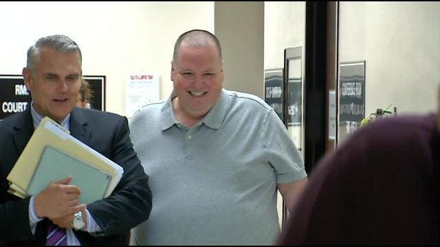Former Jaycee Keith Sellmer left the courtroom smiling and laughing with his attorney, but did not talk to the media about the charges against him.