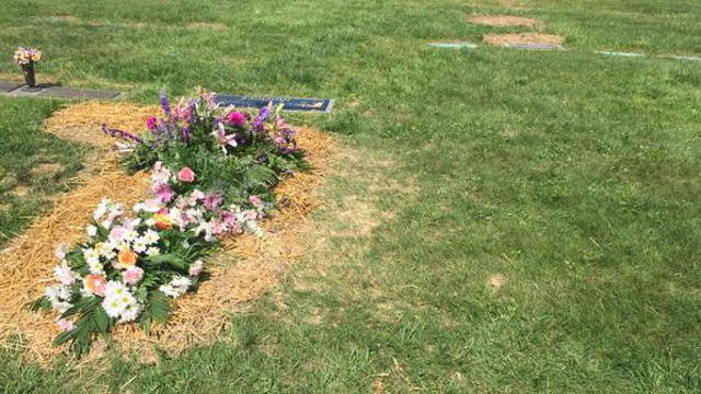 Nana Dudley was laid to rest in the spot near Jack's grave, he will be exhumed and reinterred in the open space to the right of Nana's body.
