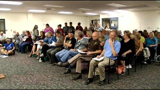 Tuesday's Council meeting was standing-room only as many people come in support of funding the animal shelter its full allotted budget.