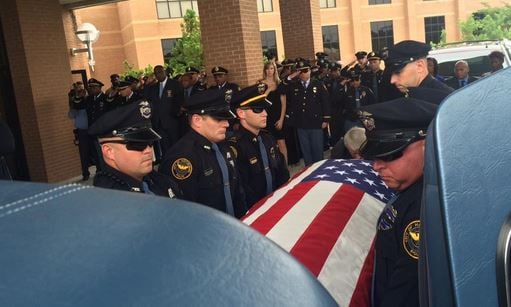 Fallen Hattiesburg Police Officer Benjamin Deen was laid to rest Thursday, five days after he and fellow officer Liquori Tate were gunned down during a traffic stop. (Photo by Toni Konz, WDRB)