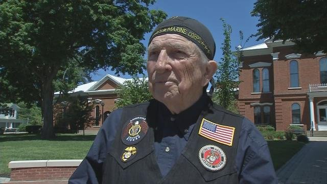 Bruce Heilman is on the last leg of his 6,000 mile journey across the U.S. commemorating the 70th anniversary of the end of World War II.