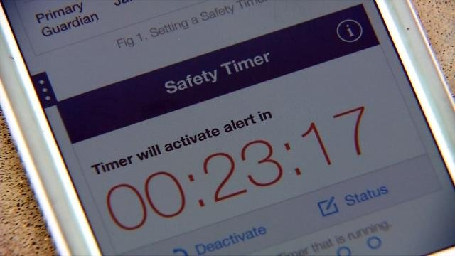 A safety timer option will alert people if you don't make it to your scheduled destination in time.