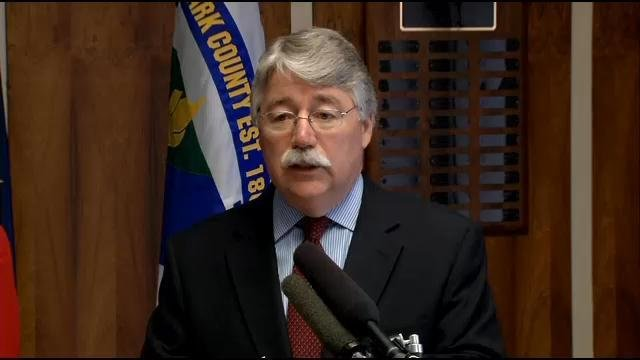 Attorney General Greg Zoeller stopped in Jeffersonville Thursday May 21, 2015 to thank the southern Indiana lawmakers behind the recently passed bills.