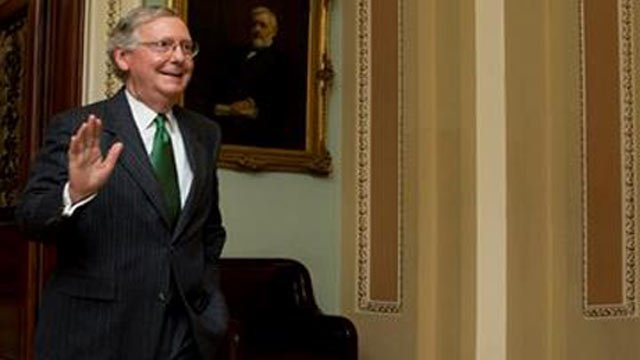 A WDRB file photo of U.S. Senator Mitch McConnell from February 2015.