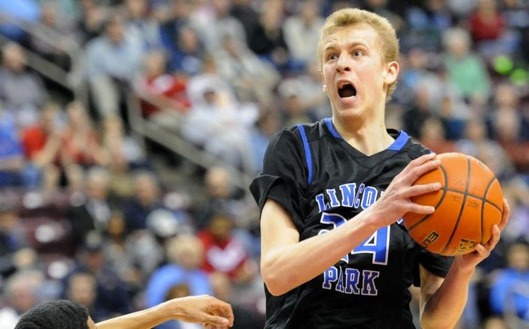 Maverick Rowan, pictured as a sophomore at Lincoln Park High School in Pennsylvania. (Pittsburgh Post-Gazette photo).