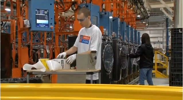 The washer and dryer line at Louisville Appliance Park