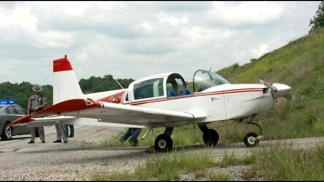 A airplane flight ended with an emergency landing on a Kentucky highway Thursday afternoon -- and the pilot says he is happy to be alive right now.