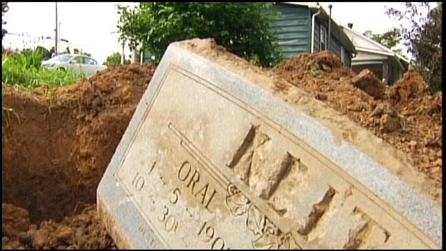 Dale Vanvuren was trying to plant a garden when he noticed a large rock in the ground. That rock turned out to be a 52-year old marble tombstone.