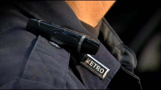 Officers can wear the body cameras three different ways: on a collar mount, on a head/hat mount or on a sunglasses mount.
