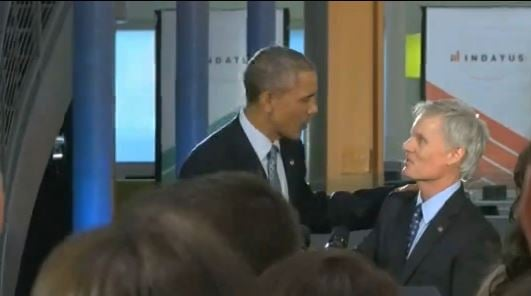 Indatus CEO David Durik and President Obama in Louisville in April, 2015