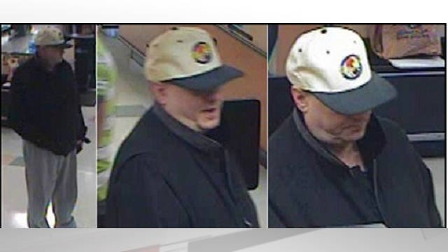 The man was captured on surveillance footage in the Kroger store. If you have seen him or have any idea who he might be, contact police.