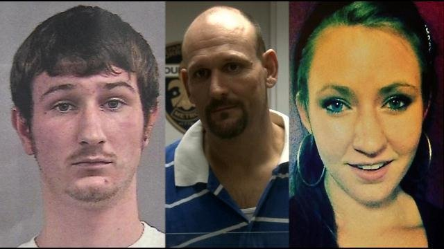 Police have arrested Sonny Tweedy (center), Tyler Tweedy (left), and Tyler's girlfriend, Heather Lovy (right).