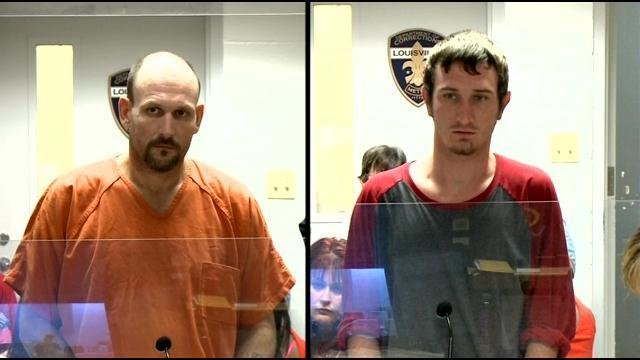 Sonny Tweedy (left) and his son, Tyler Tweedy, are accused of breaking into multiple homes in the Highlands and Audubon Park.