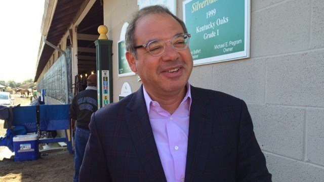 Ahmed Zayat at Churchill Downs before Kentucky Derby 141 (WDRB photo by Eric Crawford).