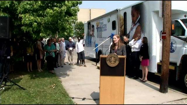 The needle exchange program will operate out of an RV parked in front of the Health Department on Gray Street