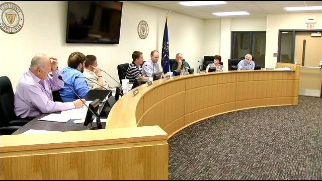 The Floyd County Council during a meeting earlier this year.